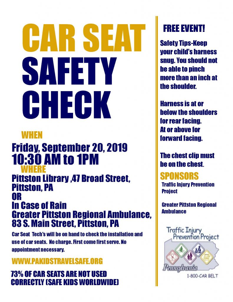 Free Car Seat Safety Check Scranton Chamber Of Commerce