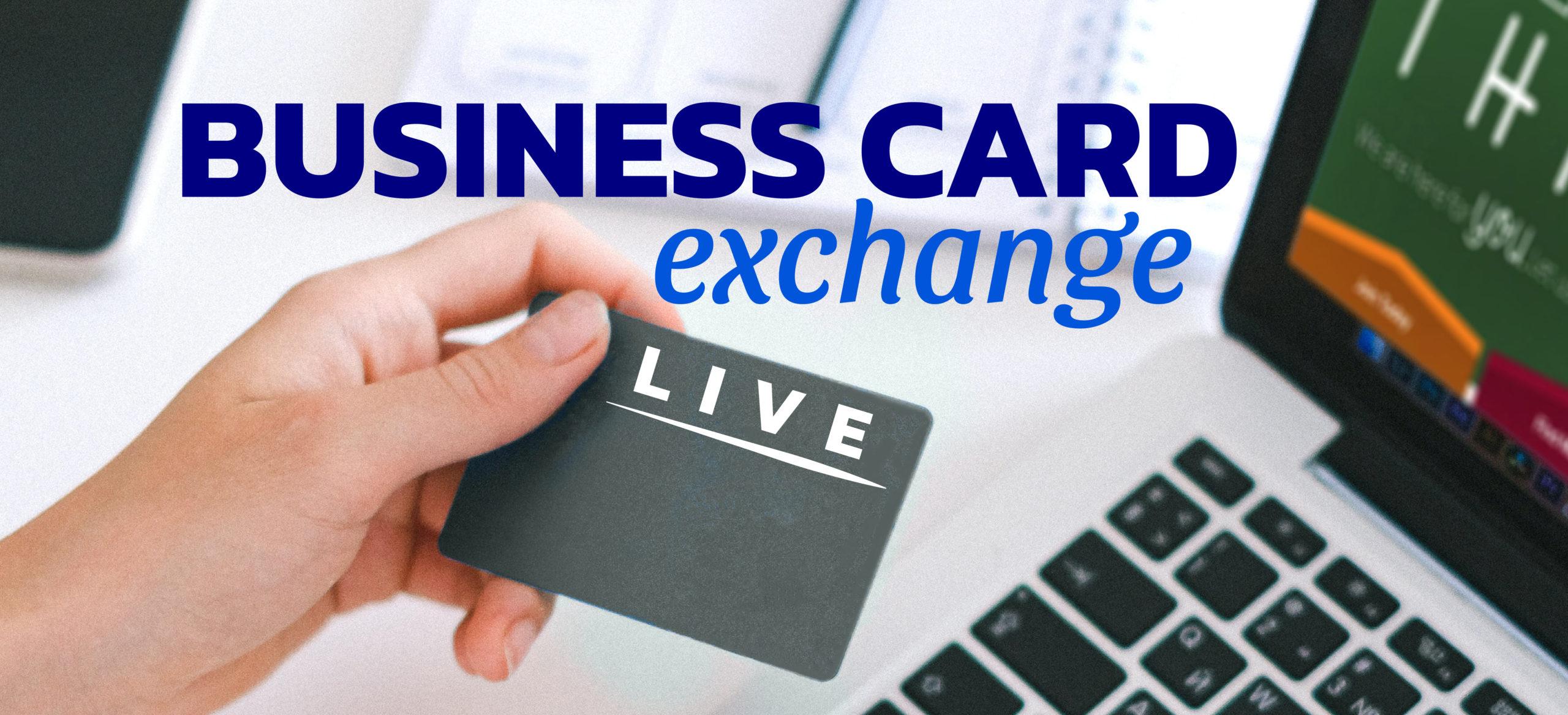 Business Card Exchange LIVE Online