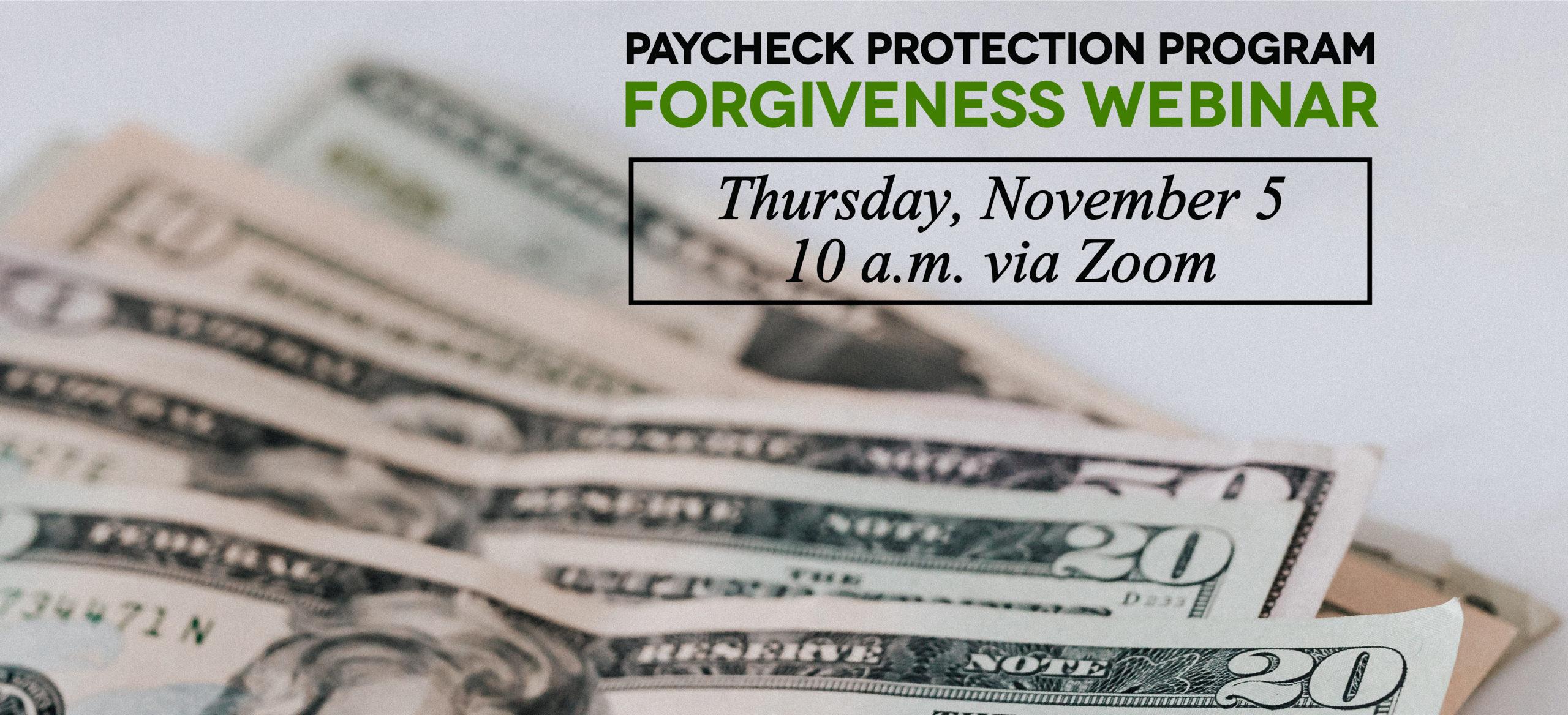 PPP Forgiveness Webinar