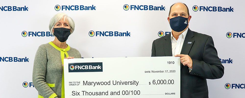 Marywood University Receives Education  Improvement Tax Credit Donation from FNCB Bank