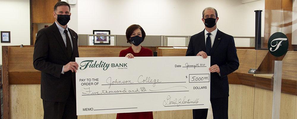 Johnson College Receives $5,000 from Fidelity Bank through Pennsylvania's EITC Program