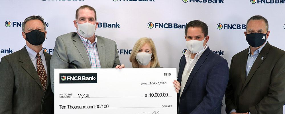 FNCB Bank Donates $10,000 to MyCIL's Transitional Skills Center