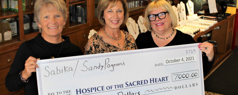 Hospice Benefits from Local Sabika Jewelry Sales